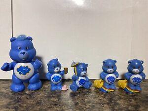 1984 Kenner Care Bears Set Of 4 Grumpy Bear Mini Pvc Figures Vintage 80's  Lot