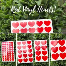 Red Vinyl Love Heart Stickers