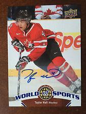 2010 Upper Deck World of Sports Multi-Sport Card Taylor Hall Autograph Rare Auto