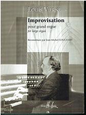 Louis Vierne - Improvisation pour Grand Orgue Louchart Jean Michel H. Lemoine -