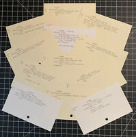 Poem Themed Library Catalog Cards for Junk Journals & Vintage Inspired Art
