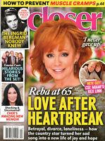 Closer Magazine November 2 2020 Reba McEntire Ingrid Bergman Frasier Cher