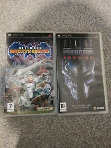 SONY PSP 2 GAMES BUNDLE - GHOST & GOBLINS, ALIENS V PREDATOR