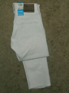 Signature by Levi Strauss & Co-Mens Slim Straight  Jeans. Size : 28/30 ,White