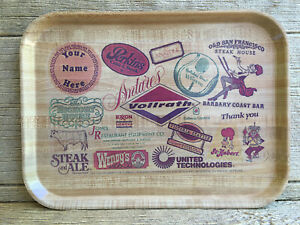Advertising Melmac Vollrath Tray Perkins Wendy's Steak Ale Exxon + More Vintage