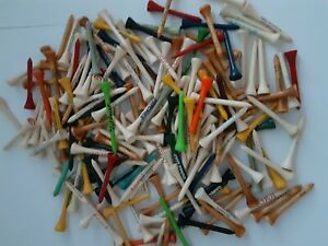 NEW 200 Assorted Advertising Wood Golf Tees Titleist, Mercedes, Paychex, Etc.