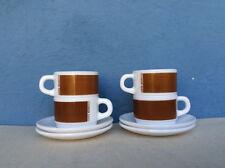 4 Tasses à café + sous tasses  ARCOPAL * CAFES NEGRESCO * Vintage 70