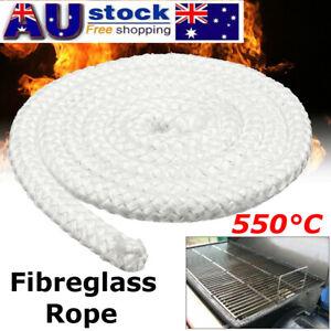 Pro 2M x 12.7mm Wood Fire Stove & Heater Rope Seal Fibreglass  550°C White