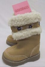 New NWT Baby Gymboree Boots Shoes Sz 2 Suede Leather Sherpa Originally $44.50