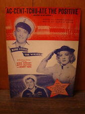 1944 AC-CENT-TCHU-ATE THE POSITIVE MISTER IN BETWEEN SHEET MUSIC BING CROSBY