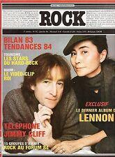 REVUE : ROCK en stock n° 72 telephone john lennon jimmy cliff indochine dogs ..
