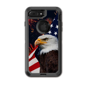 Skin Decal for Otterbox Defender iPhone 7 PLUS Case / Eagle America Flag Indepe