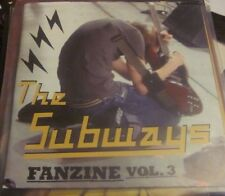 THE SUBWAYS – Fanzine Vol. 3 CD EP PROMO/GIG FREEBIE POSTER SLEEVE RARE EX COND