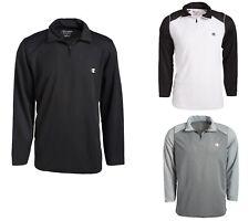 Champion Men's Jersey Crew Neck Long Sleeve Logo T-Shirt UV Protection 3/4 Zip