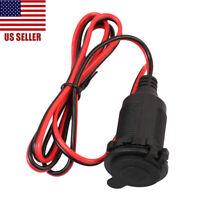 12V Car Cigarette-Lighter Charger Cable Female Socket Plug Connector Adapter