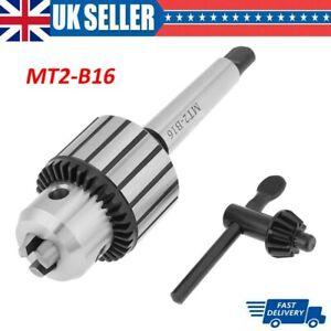 1-13mm MT2-B16 Capacity Carbide Steel Arbor Key Type Drill Chuck Mini Lathe Tool