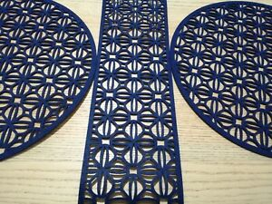 Navy Placemats And Table Runner Set 3 Piece
