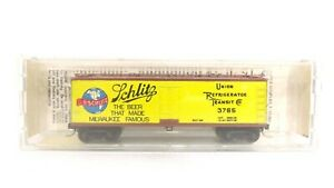 Kadee Micro Trains N 40' Dbl Wood Sheathed Schlitz Beer Reefer Car 47110 READ