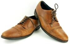 Cole Haan Grand OS C26146 Men's Sz 10 Brown Leather Cap Toe Watson Oxford Shoes