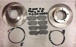 Brake rotor pad kit with sensors fits Mitsubishi Fuso FE 639 1995-2004