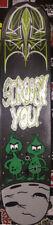 Original Pinstriped Rocky Bullwinkle Gidney Cloyd Kustom Art Skate Deck. Cool!