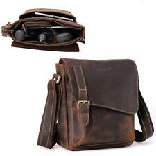Vintage Leather Shoulder Bag Men Office Business Messenger Crossbody Bag Satchel