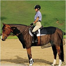 CASHEL QUIET RIDE TWO PIECE BUG ARMOR GUARD HORSE RIDING FLY NET PROTECTION