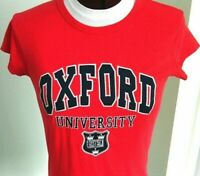 Oxford University Tee Shirt Large Women's Red Top Shield Official Merchandise