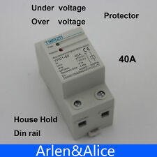 40A automatic recovery reconnect over and  under voltage protective device relay