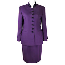Authentic CHRISTIAN DIOR Vintage Purple Velvet Buttons Wool Suit 8P S M
