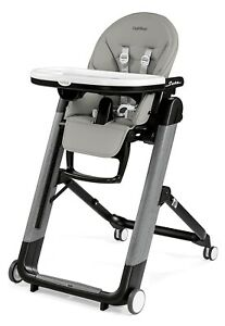 Peg Perego Siesta Ambiance Compact Fold Kids Highchair Recliner Grey NEW
