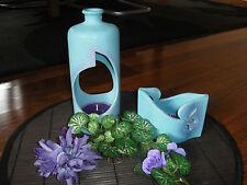 Teelichthalter / DEKO-Set Keramik  2-teilig