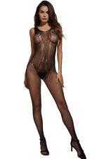UK Sexy Body Stocking Bodysuit Open Crotch Lingerie Fishnet Nightwear Vest