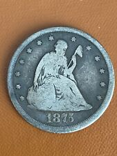 1875-CC 20C CARSON CITY TWENTY CENT PIECE 90% SILVER RARE KEY DATE FREE SHIPPING