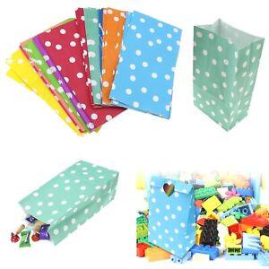 50pcs Dot Pattern Paper Bag Candy Buffet Wedding Festival Party Favours Gift
