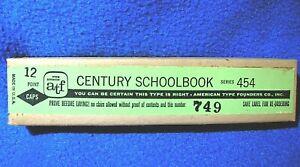 12 point Century Schoolbook Type - Caps.