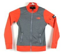 North Face Womens Full Zip Mock Neck Jacket Size S Coral Heather Grey