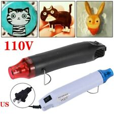 110V 300W Heat Gun Shrink Hot Air Temperature Electric Power Nozzle Tool US Plug