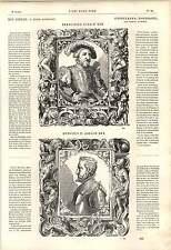 1862 Tobias stimmer ritratti re Francesco Primo Enrico II OPERA D'ARTE