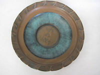 """Antique Judaica Israel Islamic Copper Wall Hanging Bowl Charger, 12"""" Diameter"""