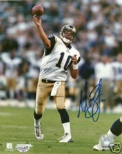 Marc Bulger Signed St. Louis Rams 8x10 Photo - COA - West Virginia - 2x Pro Bowl
