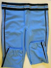 NOS Vtg 80s Rawlings Men's Baseball Pants Adult Medium Blue, Blue on Blue USA