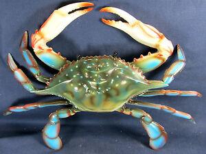 Blue Crab Tropical sea life 10 inch Poly Wall Art Decor