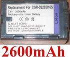 Batteria 2600mAh tipo CGP-D16S CGR-D210 CGR-D220 per PANASONIC AG-DVX100B