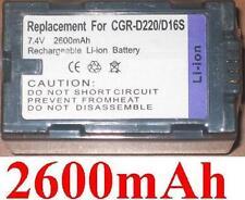 Battery 2600mAh type CGP-D16S CGR-D210 CGR-D220 For PANASONIC AG-DVX100B