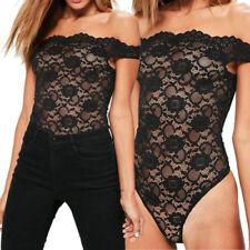 Maglie e camicie da donna body casual in pizzo
