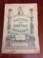 ANTIQUE DEC 1885 HARPERS NEW MONTHLY MAGAZINE CHRISTMAS EDITION WINTER POEMS 427