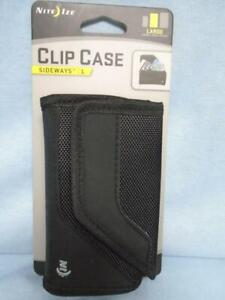 Nite Ize Clip Case Sideways Phone/Money Holder Case Black Sz L
