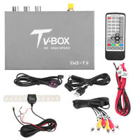 Remote HD DVB-T2 Car Mobile Digital TV Box Analog Tuner Signal Receiver Antenna