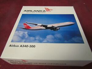 HERPA WINGS AIRLANKA AIRBUS A340-300 WITH STAND. SCALE 1:500. ITEM N 504584